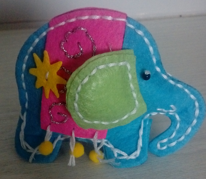 Stuffed Elephant Decoration