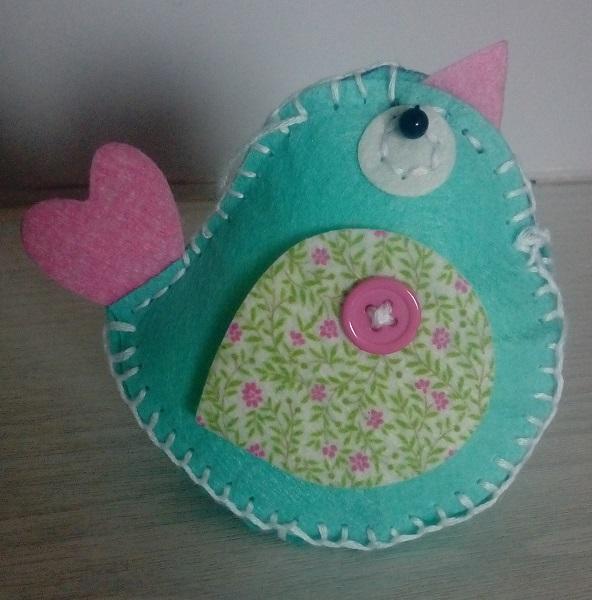 Stuffed Bird Decoration