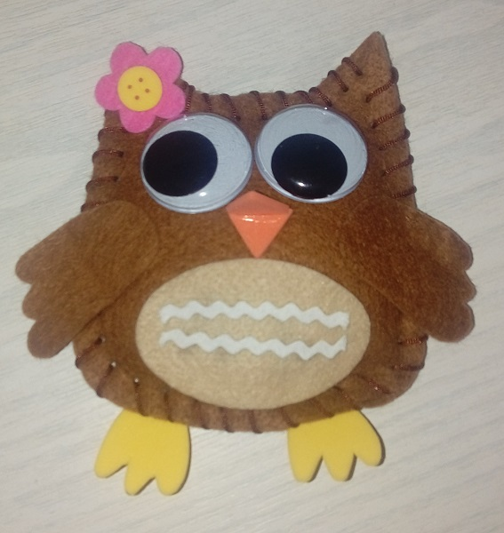 Stuffed Owl Decoration