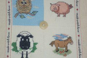 Cross Stitch Animal Cushion