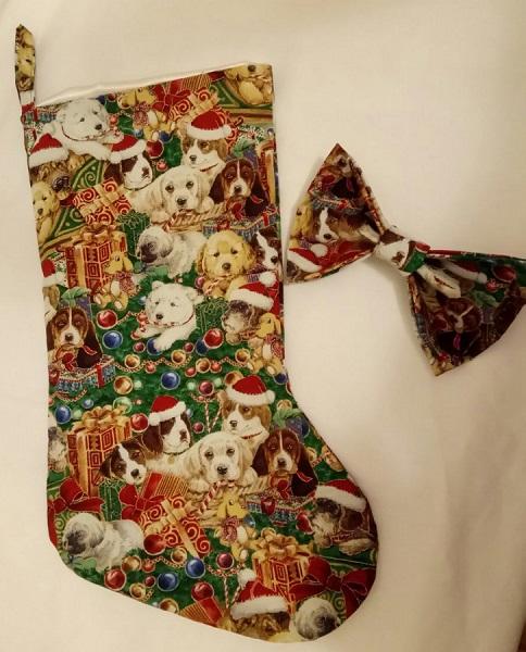 Large Elastic Dog Fabric Christmas Collar